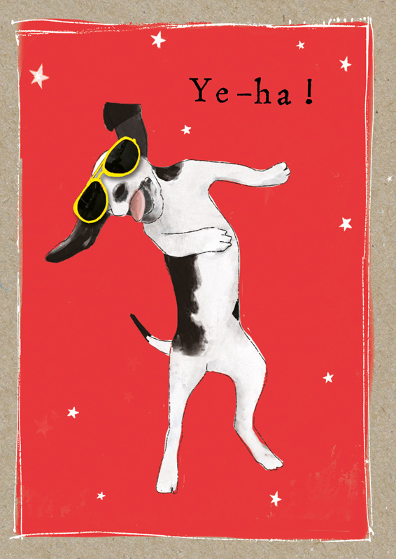 Čestitka FANCY PANTS YEHA! DOG