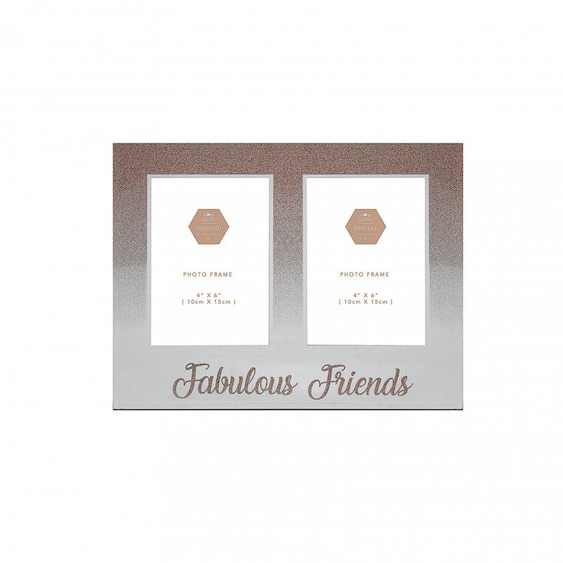 ROSE GOLD Dupli ram za slike 10x15 FRIENDS