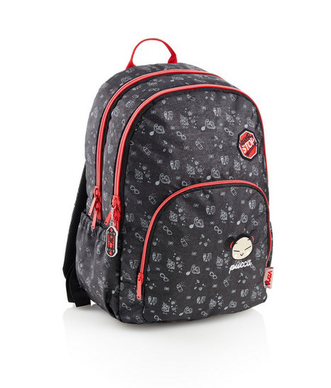 BACKPACK W/THREE COMPARTMENTS NEVER STOP PUCCA