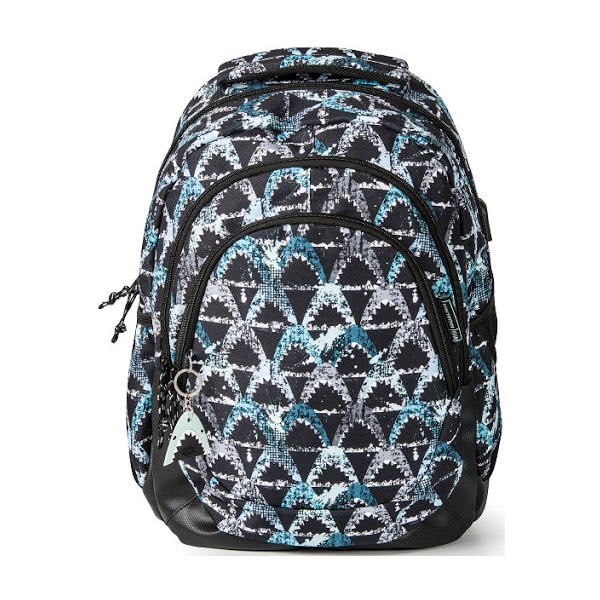 BACKPACK W/THREE COMPARTMENTS REINFORCED SHARK MR