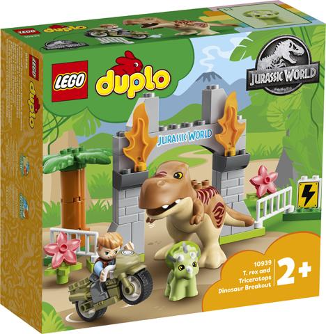 Lego kocke T Rex and Triceraptors Dinosaur Breakout Duplo 2+