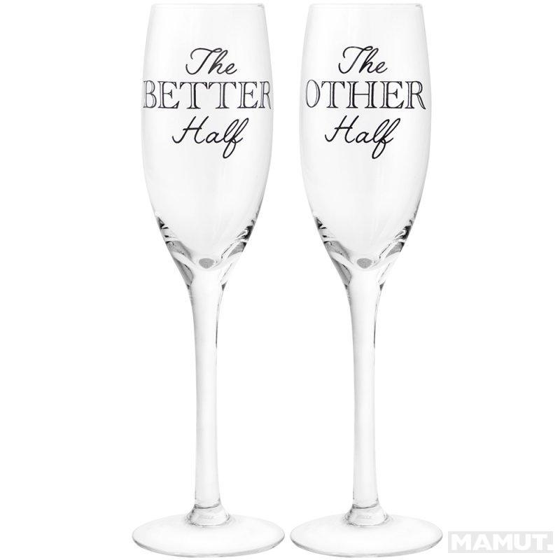 Set od 2 čaše za šampanjac BETTER HALF