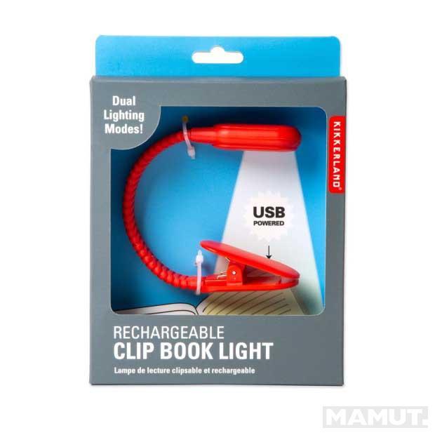 Lampica za čitanje CLIP BOOK LIGHT Crvena