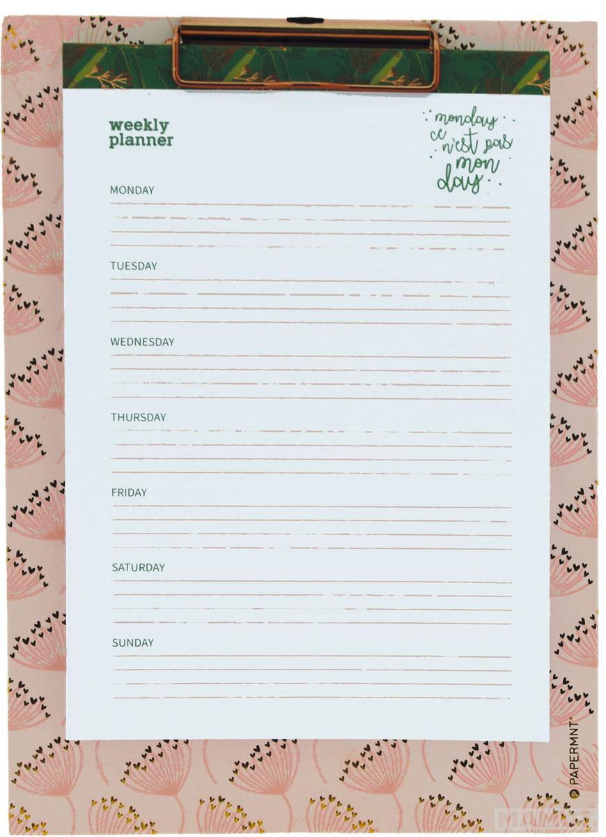 Stoni nedeljni planer CLASSY&SASSY sa štipaljkom