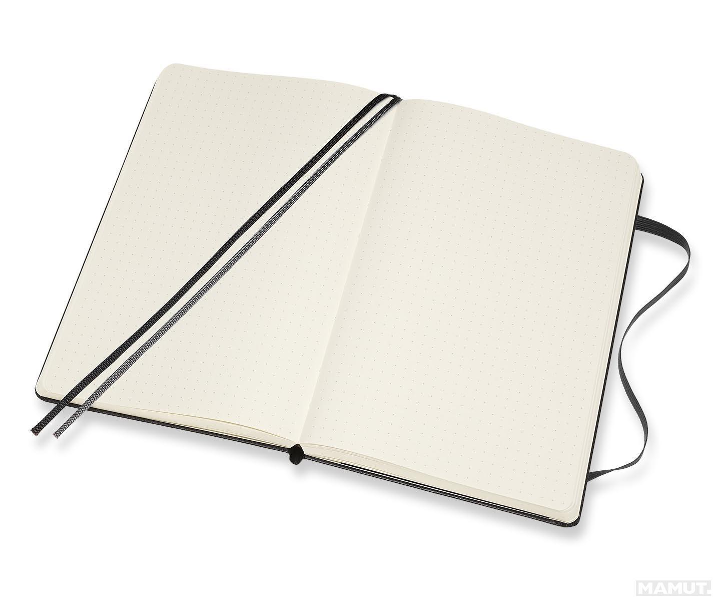 Notes A5 MOLESKINE Classic Soft, crni - tačkice TP
