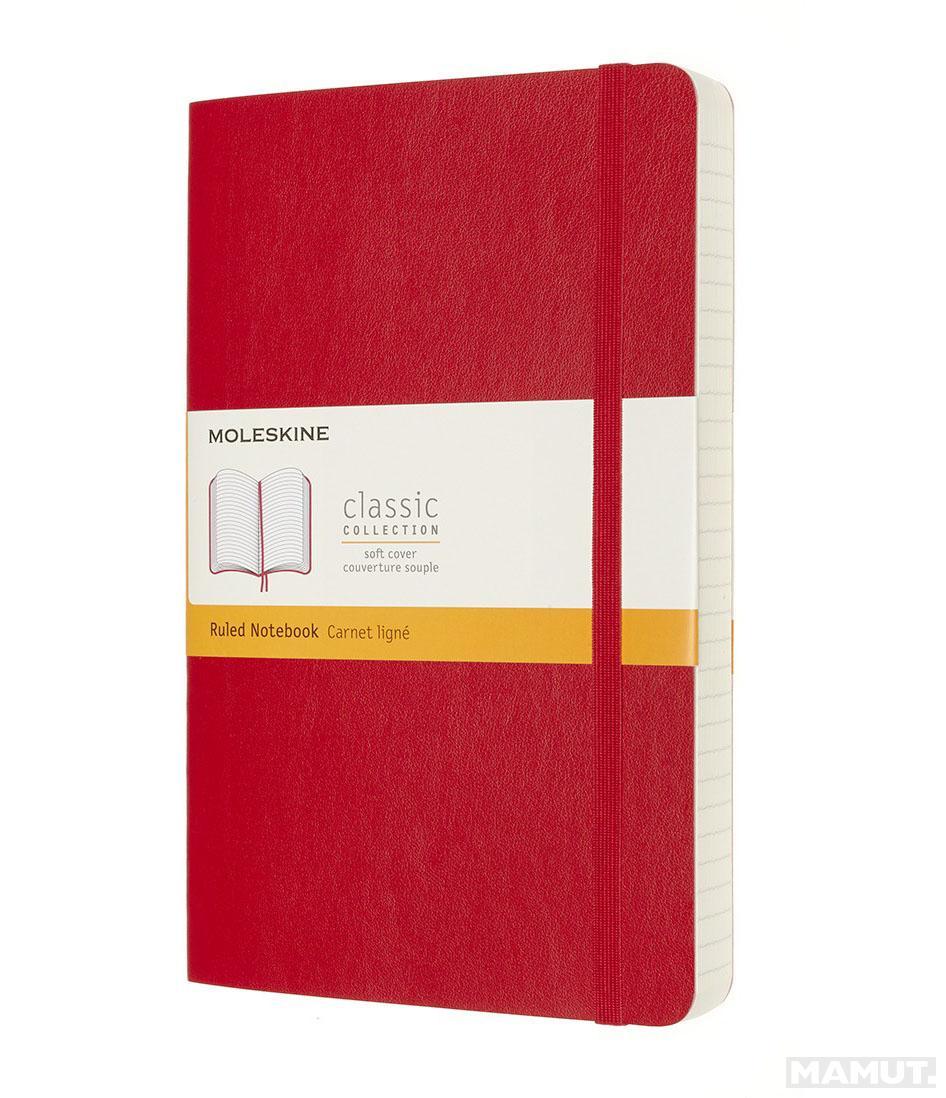 Notes A5 MOLESKINE Classic Soft, crveni